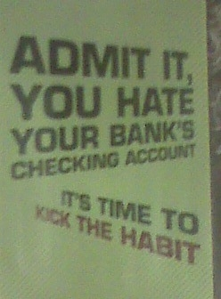 Yes, I DO hate my bank's checking account!